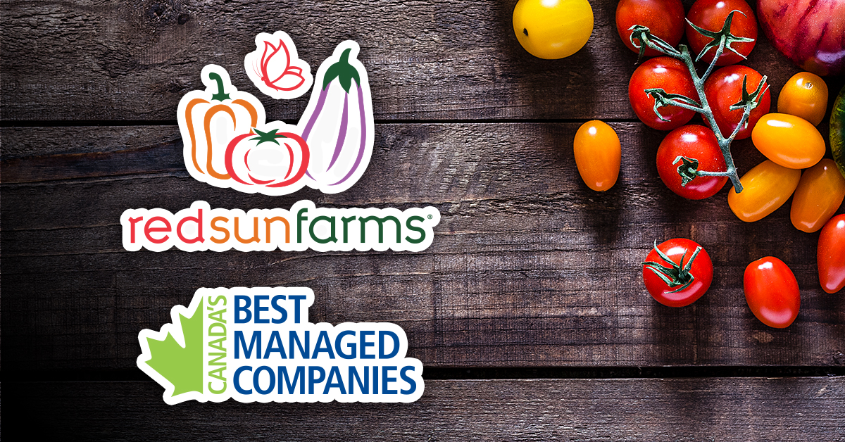 RED SUN FARMS NAMED ONE OF CANADA'S BEST MANAGED C...